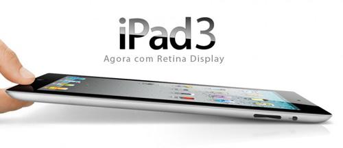 Lançamento do iPad 3 previsto para Março