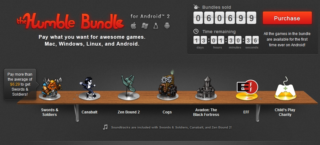 The Humble Bundle for Android 2 é revelado