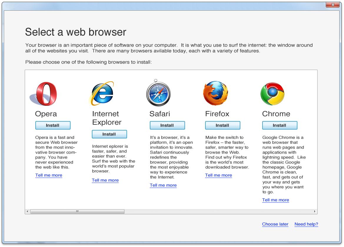 """Microsoft """"não notou"""" por 17 meses que havia removido a tela de escolha de browsers do W7"""