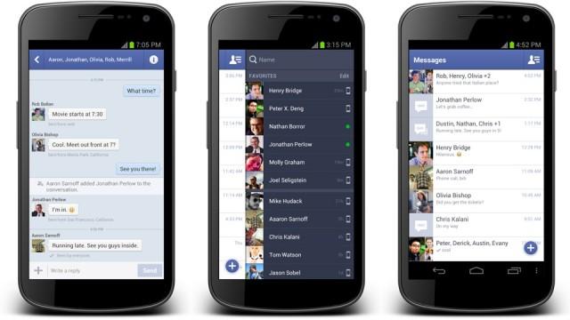 O aplicativo de Facebook de Android recebeu melhorias relacionadas ao chat