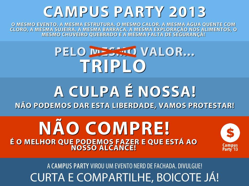 Campus Party 2013 é alvo de protestos e ataques de DDoS