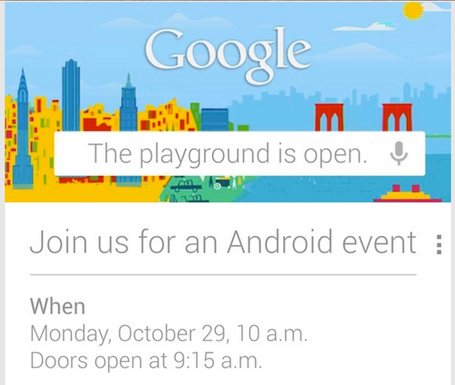 Google fará um evento sobre Android no dia 29 de Outubro