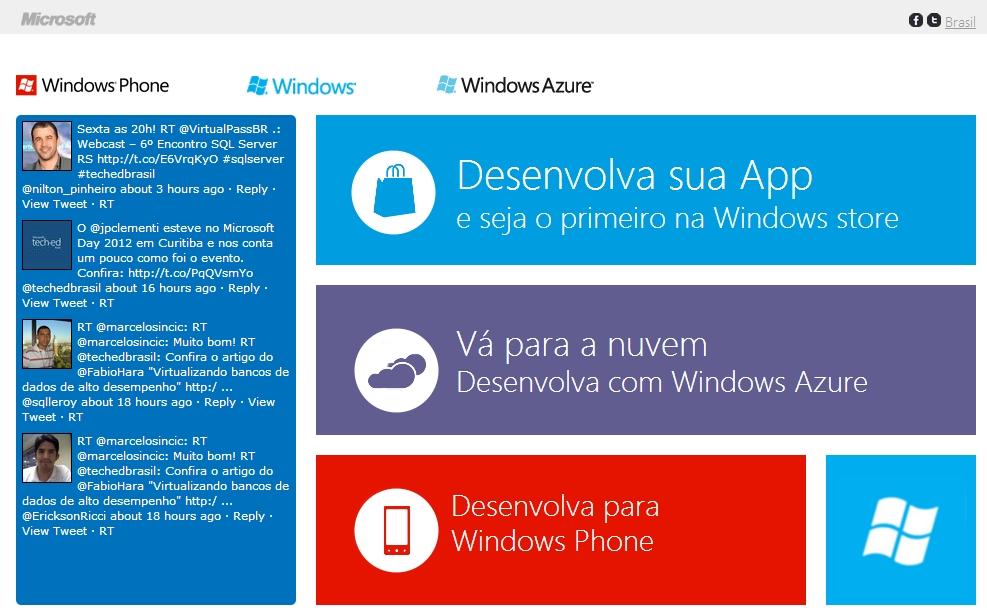 Microsoft Brasil abre portal para o desenvolvimento de aplicativos