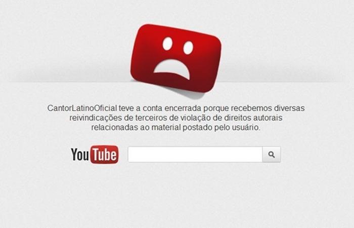 Cantor Latino tem sua conta do Youtube fechada por violação de direitos