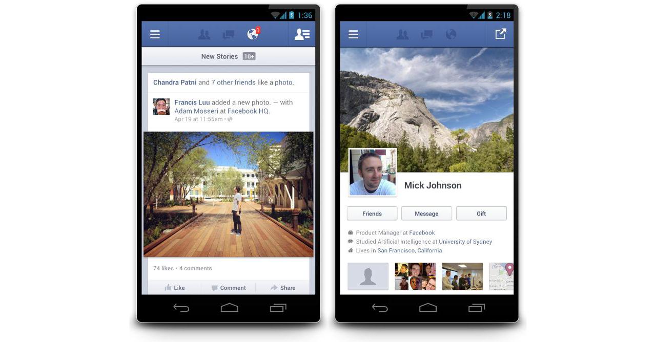 Chegou o Facebook 2.0 para Android, muito melhor e mais rápido!