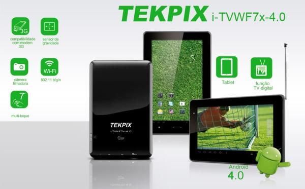 "A Tekpix anunciou o seu tablet, custando a ""bagatela"" de 3500 reais"