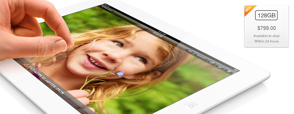 iPad de 128GB disponível online