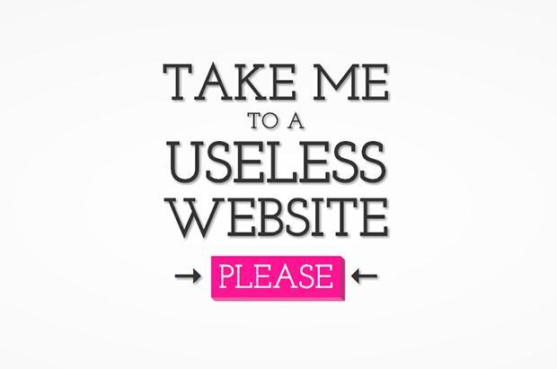 Não tem nada para fazer? Conheça a Useless Web!