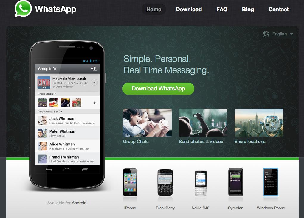 Google está negociando compra do WhatsApp por US$ 1 bilhão