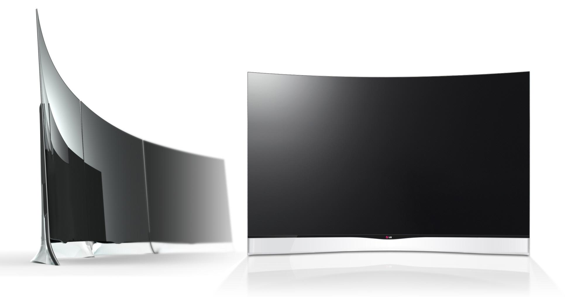 LG lança primeira TV LED do mundo com tela curva
