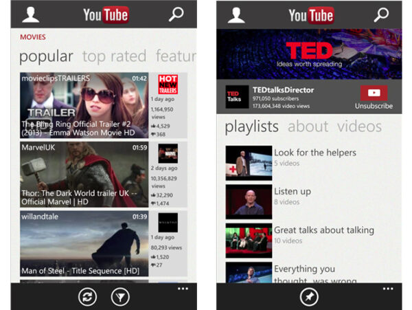 Windows Phone finalmente ganha aplicativo oficial do YouTube