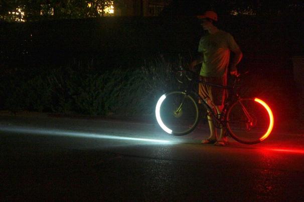 Novo sistema de LEDs para bicicletas promete revolucionar passeios noturnos