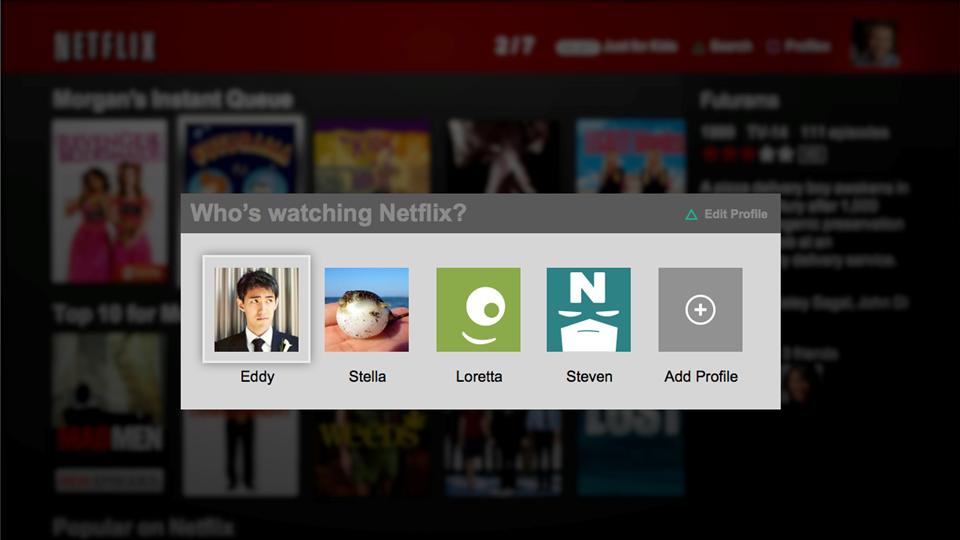 Netflix agora permite a criação de perfis de usuário