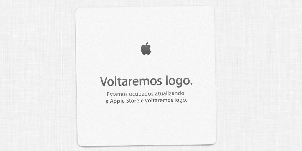 A Loja da Apple está offline. 1h e meia para começar o evento que deve oficializar dois novos iPhones.