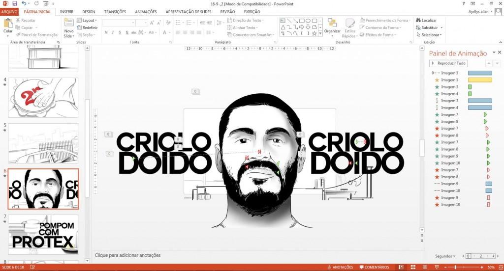 Fã do cantor Criolo faz clipe inteiro apenas com o Power Point!