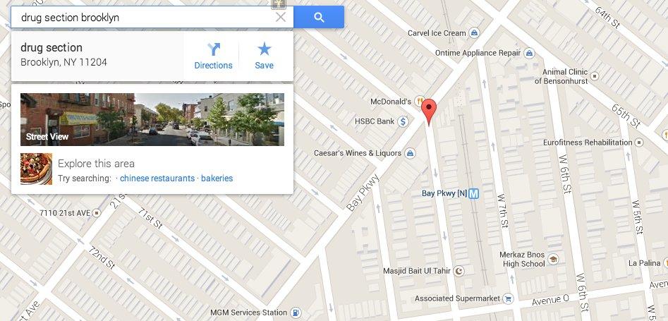 Google é tão útil que te mostra onde comprar drogas