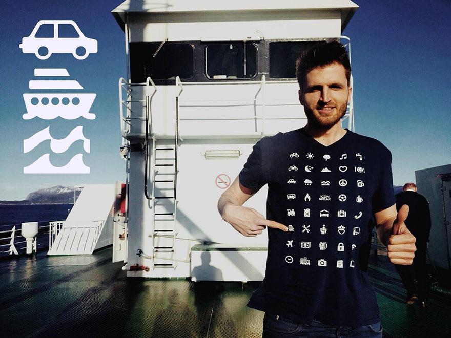 Veja a camisa para viajantes que permite fácil comunicação em qualquer país