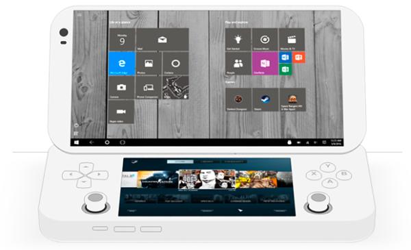 (O console portátil é capaz de rodar programas de windows, como a plataforma de jogos Steam)