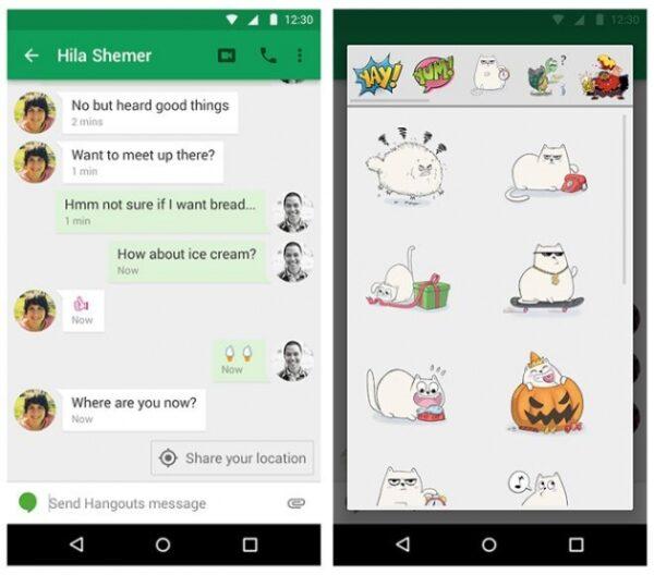 (O Hangouts era a plataforma de mensagens unificada da Google de 2013 à 2016)