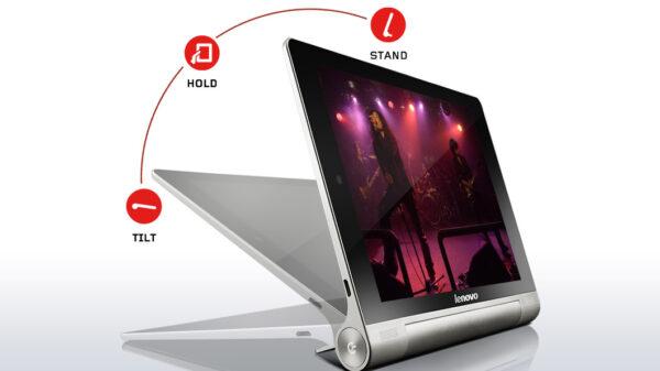 (O muito elogiado apoio do tablet permite seu uso em diversas e está disponível desde a sua primeira versão)
