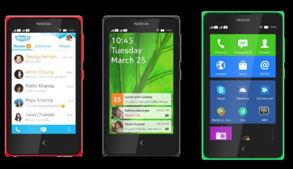 (Os aparelhos X, X+ e XL eram modelos de entrada da linha Lumia com o sistema Android)
