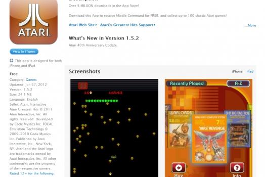Baixe 100 jogos de Atari de graça para iOS em comemoração aos seus 40 anos