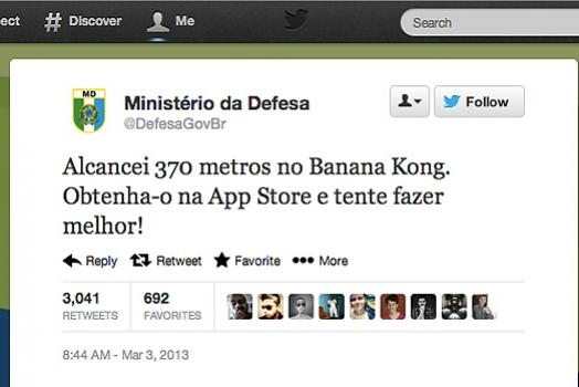 Após bola fora do Ministério da Defesa, vendas de Banana Kong aumentam em 500% no Brasil