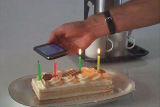 Um aplicativo que pode apagar velas?