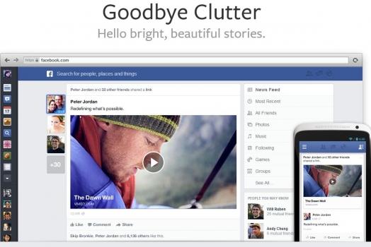 Facebook apresenta novo layout de seu feed de notícias