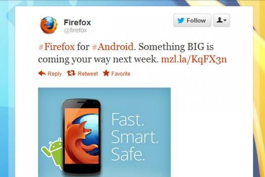 "Firefox: ""Algo GRANDE está chegando"""