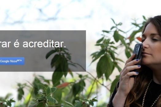 Google anuncia seu novo serviço, o Google Nose, que permite a busca de cheiros na internet