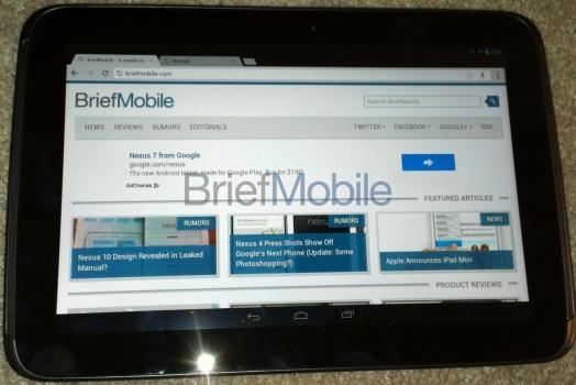 Rumor: Especificações sobre o Google Nexus 10