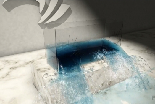 Novo algorítimo permite simulação de água ainda mais realista