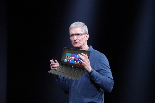 Tim Cook comenta sobre tablets de 7 polegadas e o Surface