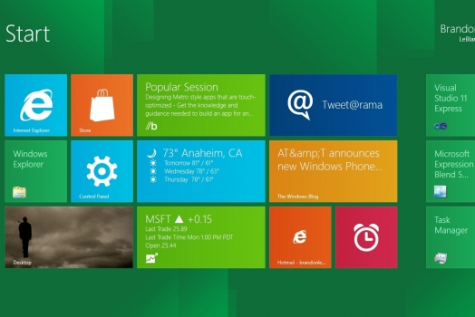Upgrade para Windows 8 custará US$ 39,99