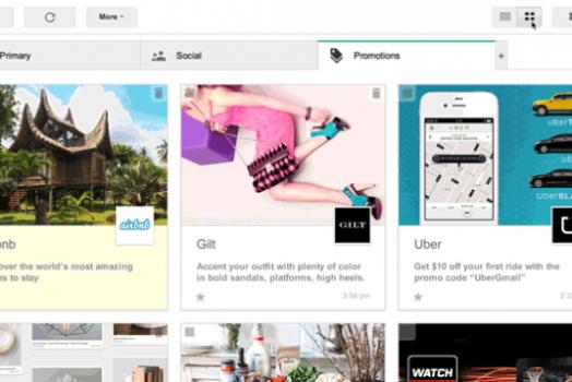 Gmail começa a testar nova forma de visualizar e-mails