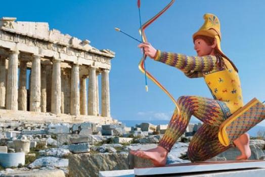 Luz ultravioleta revela como eram na realidade as estátuas da Grécia antiga