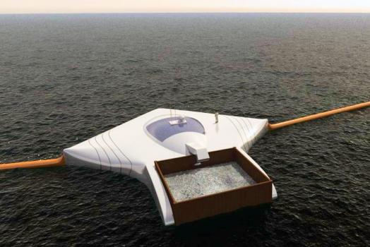 Estudante de 19 anos cria uma máquina que é capaz de limpar todo o plástico dos oceanos em 5 anos