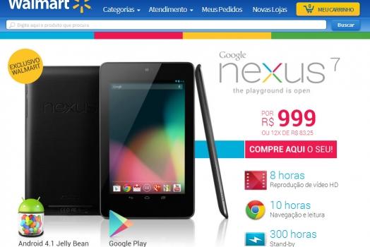 Google Nexus 7 chega ao Brasil por 999 reais