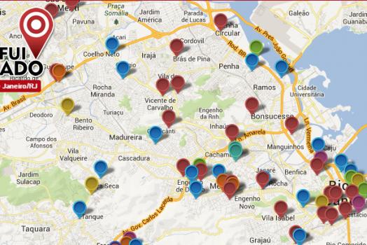 Site cria um mapa de roubos pelas principais cidades do Brasil com colaboração dos usuários