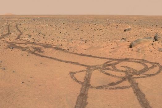 """Curiosity """"acidentalmente"""" desenha pênis em Marte"""