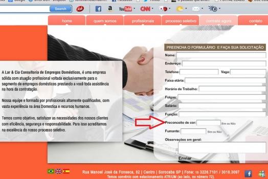 Site de empregados domésticos gera polêmica ao ter formulário preconceituoso