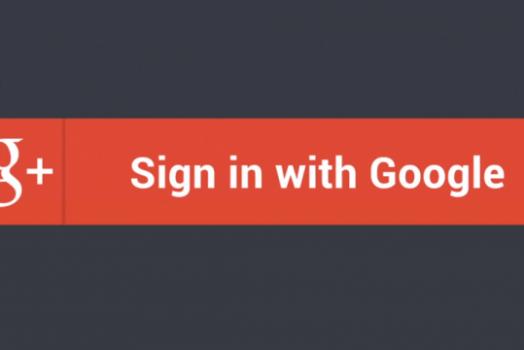 Google finalmente cria o seu botão de login pela conta do Google Plus